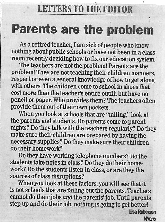 Cô giáo Mỹ viết thư chỉ trích phụ huynh làm giáo dục thất bại - Ảnh 2.