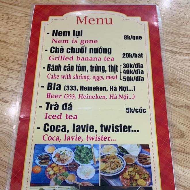 """Quán ăn siêu hài hước khi nhờ chị Google dịch menu từ Việt sang Anh, chấp hết mọi trình độ hiểu """"nem is gone"""" là món gì! - Ảnh 2."""