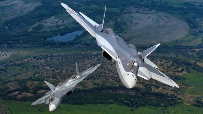 Đẳng cấp Su-57 Nga là đây: Tiêu diệt chiến đấu cơ thế hệ 6 của Không quân Mỹ! - Ảnh 1.
