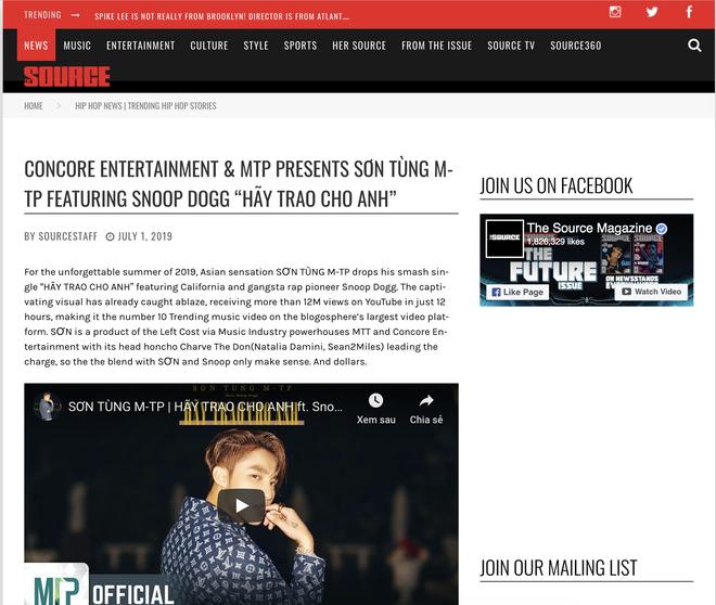 """Trang tin âm nhạc lớn nhất thế giới đăng bài về """"kì tích"""" của Sơn Tùng M-TP - Ảnh 5."""
