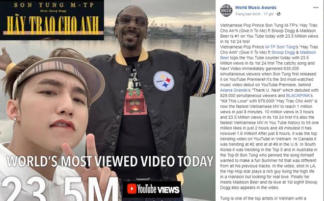 """Trang tin âm nhạc lớn nhất thế giới đăng bài về """"kì tích"""" của Sơn Tùng M-TP"""