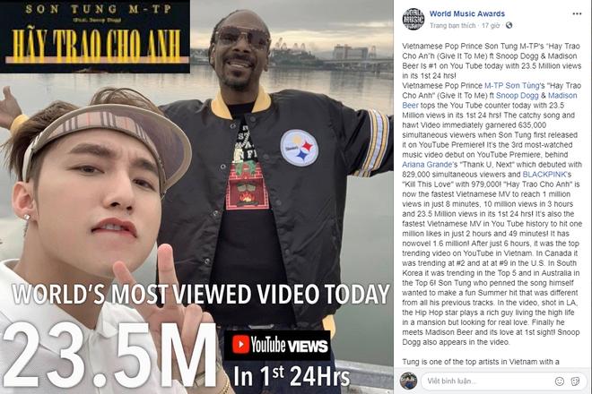 """Trang tin âm nhạc lớn nhất thế giới đăng bài về """"kì tích"""" của Sơn Tùng M-TP - Ảnh 2."""