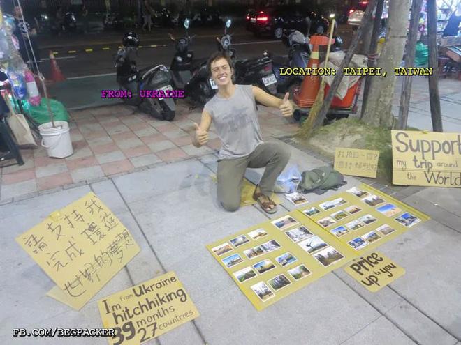 Loạt ảnh về đại dịch Tây ba lô ăn xin đang lan truyền khắp châu Á: Hãy cho tôi tiền đi vòng quanh thế giới - Ảnh 14.