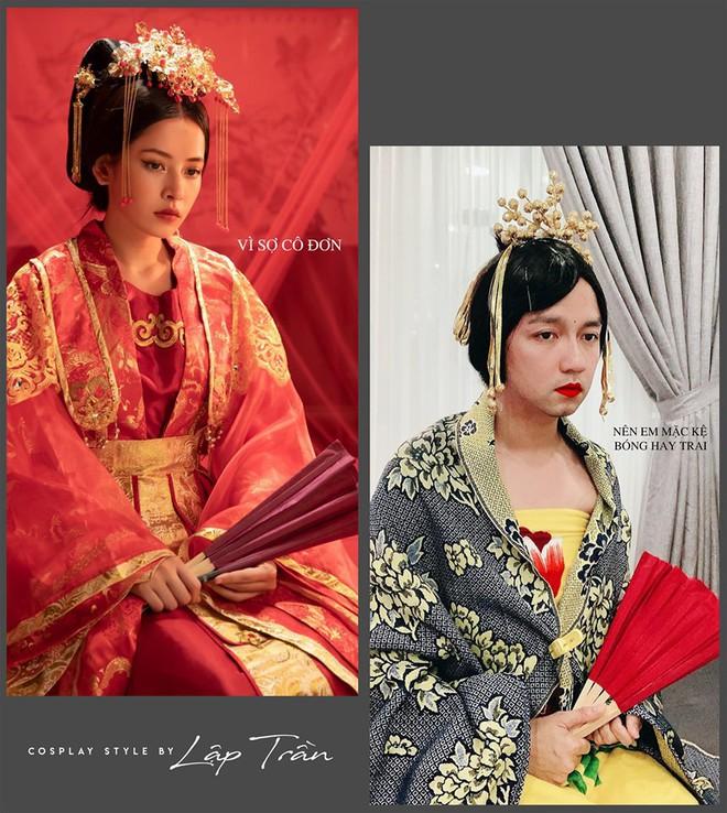 Xuất hiện thánh cosplay Việt: Đội vỏ bưởi liền hoá thành Taylor Swift, khoác cái chăn lại thấy giống Chi Pu - Ảnh 2.