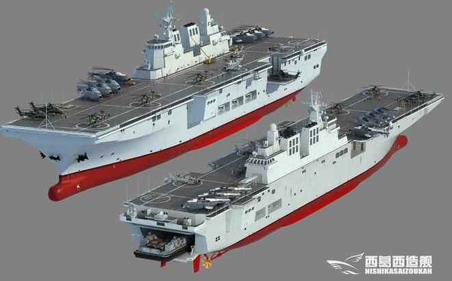 """Trung Quốc thi công tàu đổ bộ Type 075 với tốc độ """"chóng mặt""""!"""