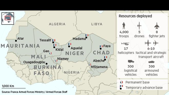 Cuộc phiêu lưu quân sự của Pháp tại Mali: Sa chân trong bùn lầy, sợ hãi và thù địch? - Ảnh 4.