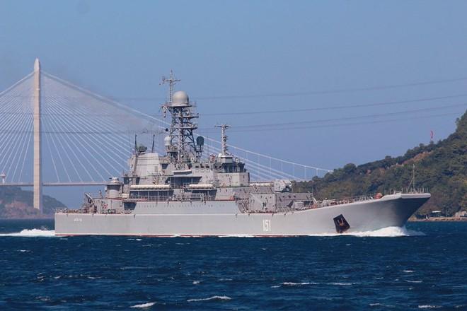 Tàu đổ bộ Nga vận chuyển số lượng lớn xe tăng, xe bọc thép tới Syria - Ảnh 4.