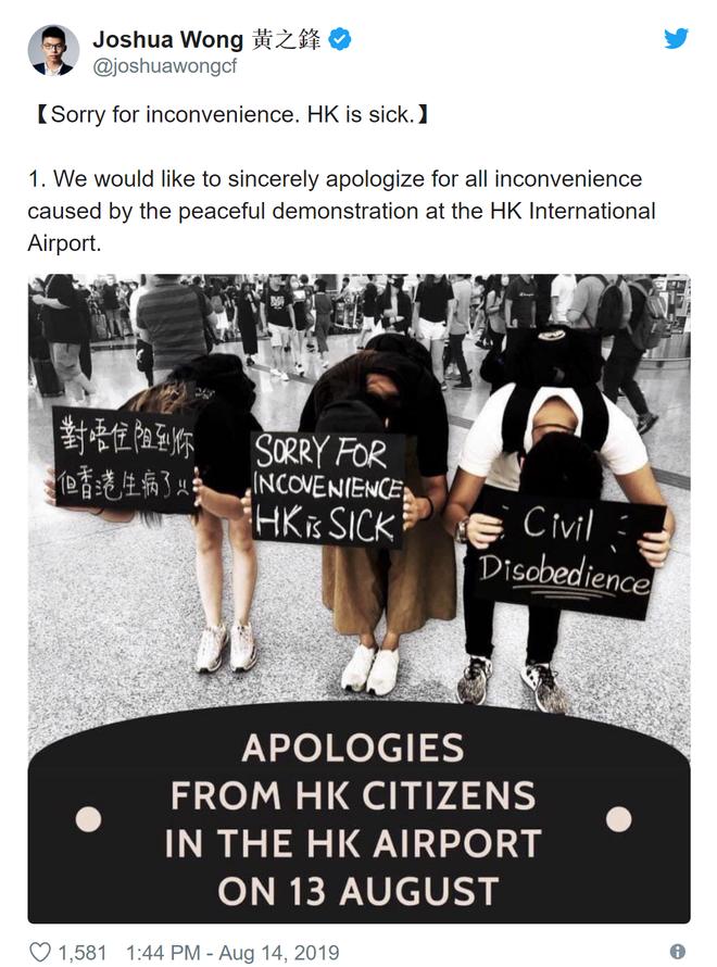 CNN: Một số người biểu tình bất ngờ lên tiếng xin lỗi sau chuỗi ngày đại náo sân bay Hong Kong - ảnh 2