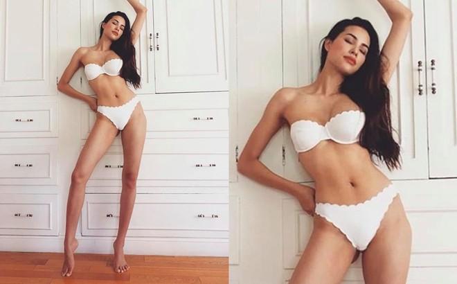 Hoa hậu Phạm Hương khoe vóc dáng gợi cảm ở tuổi 29