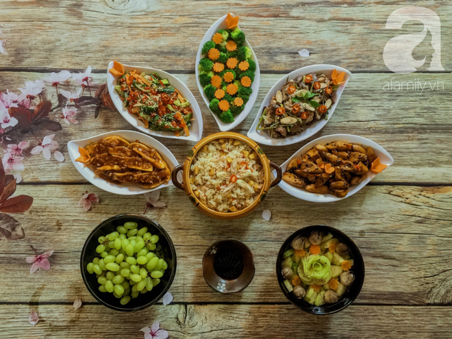 Rằm tháng 7, mẹ đảm Sài Gòn sửa soạn mâm cơm chay ngon đẹp hết cỡ ai nhìn thấy cũng phải xuýt xoa - Ảnh 1.