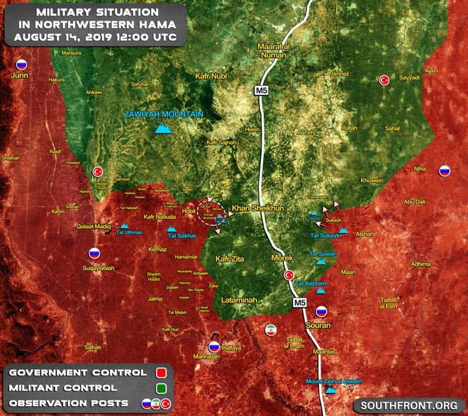QĐ Syria bắt sống nhiều tăng thiết giáp, phiến quân vỡ trận Nam Idlib, tháo chạy như ong vỡ tổ - Ảnh 2.