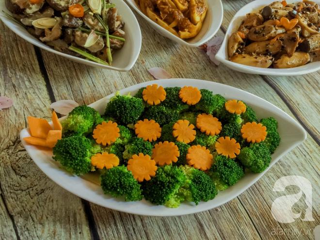 Rằm tháng 7, mẹ đảm Sài Gòn sửa soạn mâm cơm chay ngon đẹp hết cỡ ai nhìn thấy cũng phải xuýt xoa - Ảnh 3.
