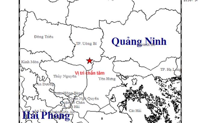 Quảng Ninh xảy ra động đất 3,2 độ richter