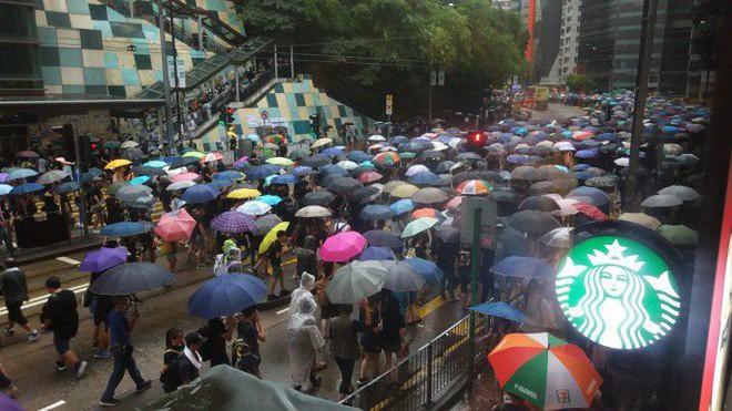Biển ô tuôn xuống đường ở Hồng Kông ngày cuối tuần - ảnh 4