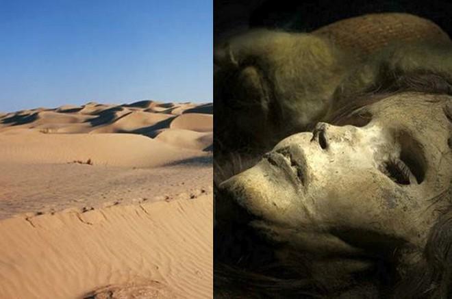 Giải mã sa mạc không lối thoát, có xác ướp mỹ nhân còn nguyên tóc sau gần 4.000 năm - Ảnh 1.