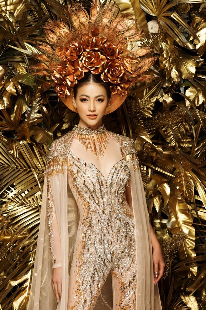 Phương Khánh khoe vẻ gợi cảm khi mặc lại trang phục gây ấn tượng tại Miss Earth - Ảnh 5.