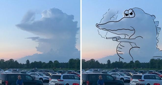Sửng sốt với những chú thú biến hình trên bầu trời - Ảnh 1.