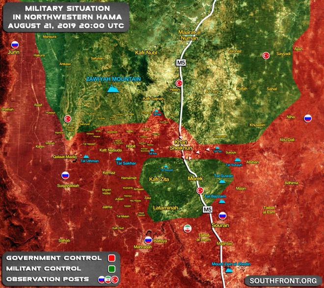 QĐ Syria chiến thắng như chẻ tre, giải phóng Khan Shaykhun, thắt chặt vòng vây Hama - Khủng bố tháo chạy - Ảnh 5.