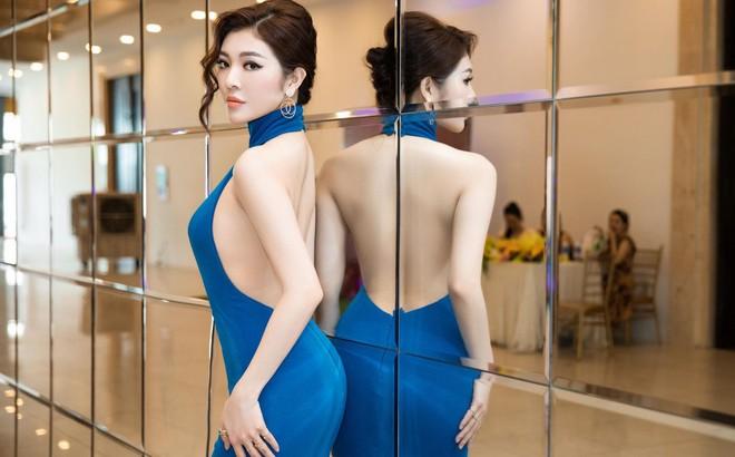Hoa hậu Thiên Hương khoe da trắng, lưng trần quyến rũ