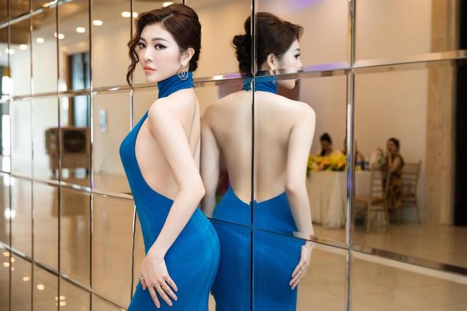 Hoa hậu Thiên Hương khoe da trắng, lưng trần quyến rũ - Ảnh 5.