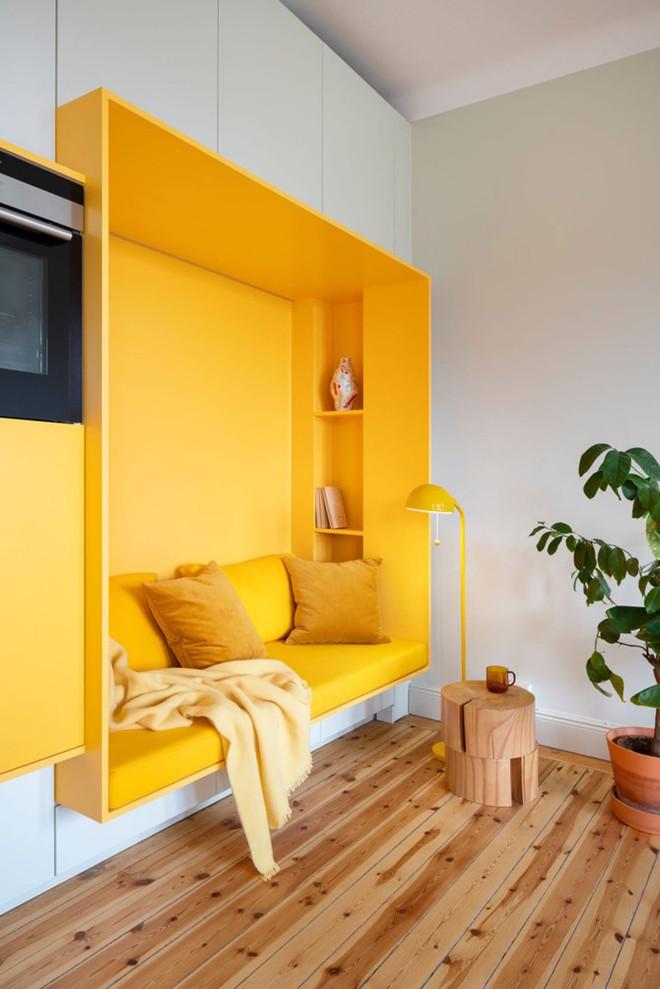 Bên trong căn hộ màu vàng xinh xắn - Ảnh 1.