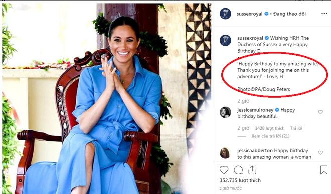 Hoàng tử Harry khiến người hâm mộ lịm tim với lời chúc mừng sinh nhật đầy ngọt ngào gửi đến vợ, Meghan Markle sẽ đón tuổi mới tại nơi đặc biệt - Ảnh 1.