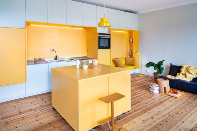 Bên trong căn hộ màu vàng xinh xắn - Ảnh 3.