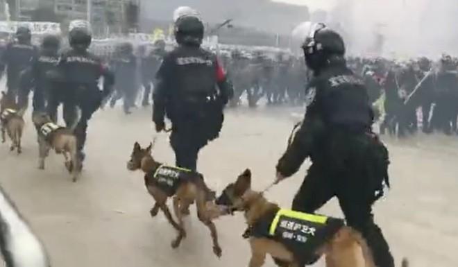 Hồng Kông căng như dây đàn: Bắc Kinh lại họp báo, 12.000 cảnh sát TQ tập trận sát đặc khu - ảnh 1