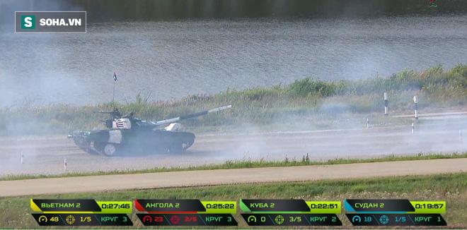 Tuyệt vời kíp xe tăng Việt Nam 2 đứng đầu bảng, chính thức phá kỷ lục - Xe tăng Cuba và Angola bị hỏng - Ảnh 11.