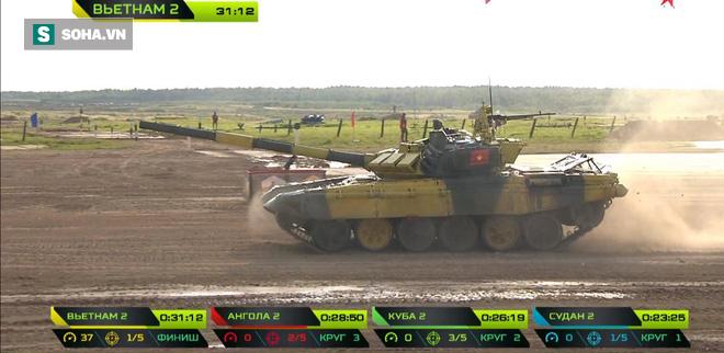 Tuyệt vời kíp xe tăng Việt Nam 2 đứng đầu bảng, chính thức phá kỷ lục - Xe tăng Cuba và Angola bị hỏng - Ảnh 10.