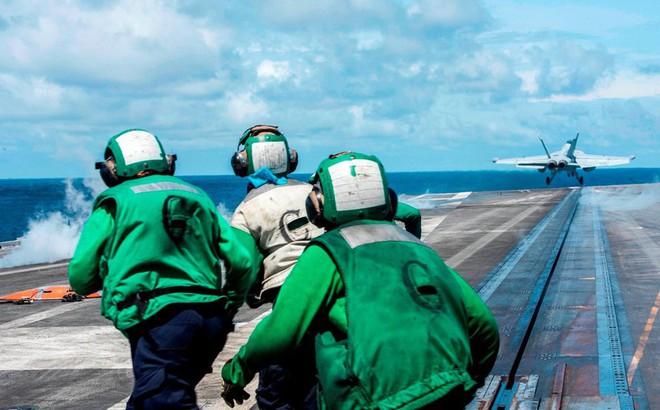 Tàu sân bay Mỹ diễn tập ở Biển Đông, gần khu vực Trung Quốc tập trận