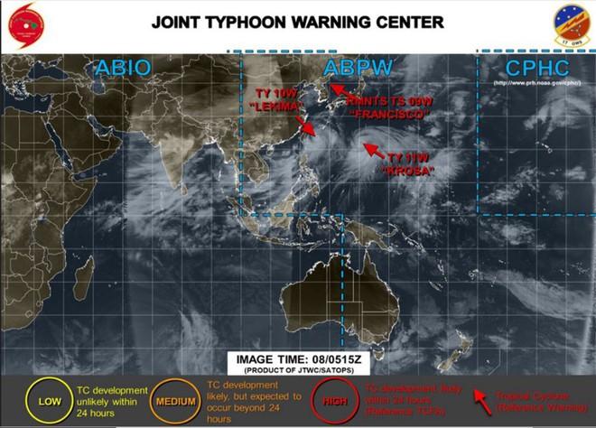 Sức mạnh dữ dội của song bão lao thẳng vào Đông Á: Trung Quốc ban bố 'báo động đỏ' - ảnh 2