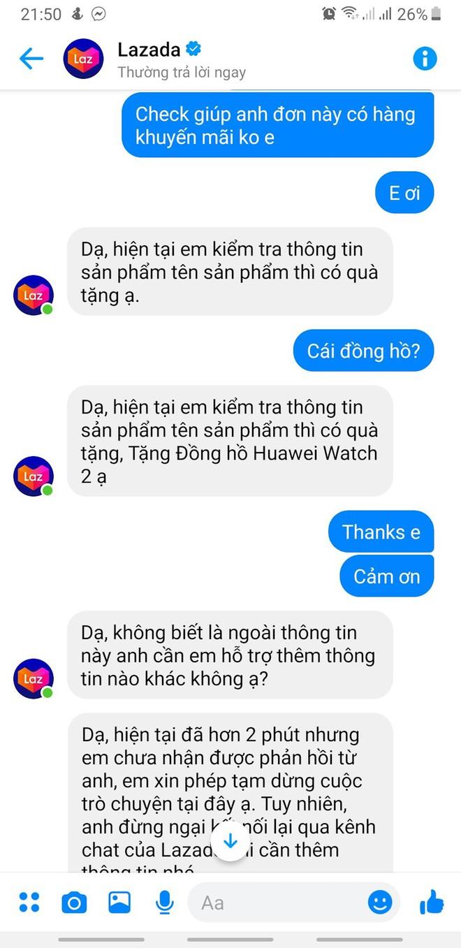 """Lazada bị """"tố"""" khuyến mãi ảo, không chịu trả khách đồng hồ Huawei Watch 2 6Gb trị giá 6,4 triệu đồng - Ảnh 3."""
