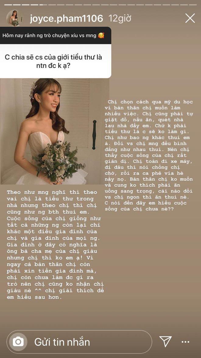 Ái nữ đại gia Minh Nhựa lên tiếng sau đám cưới siêu khủng: Tiểu thư cũng phải quét nhà, giặt đồ - ảnh 1