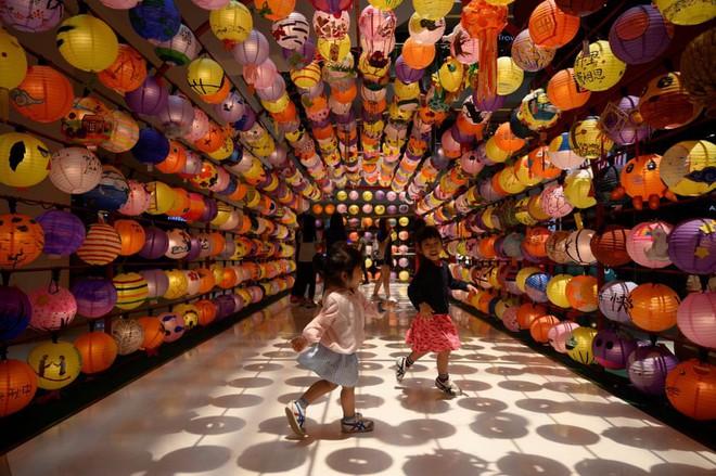 24h qua ảnh: Trẻ em vui đùa dưới đèn lồng Trung Thu ở Malaysia - ảnh 3