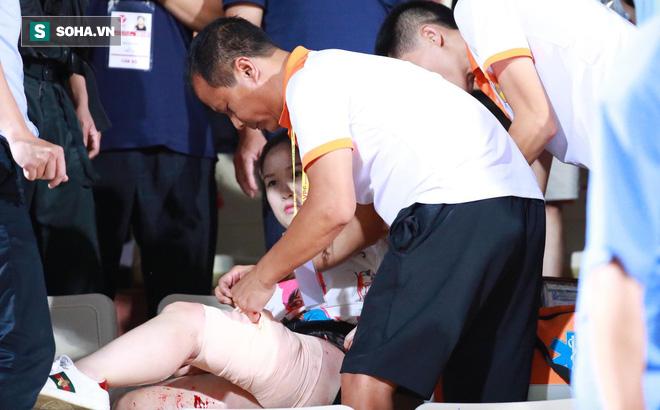 CLB Hà Nội chi trả toàn bộ chi phí chữa trị cho nữ CĐV bị pháo sáng bắn trúng