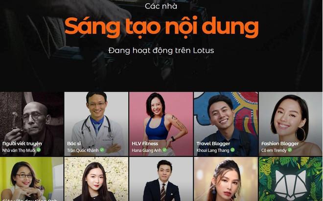 Trước lễ ra mắt, Lotus đã hợp tác với gần 700 nhà sáng tạo nội dung