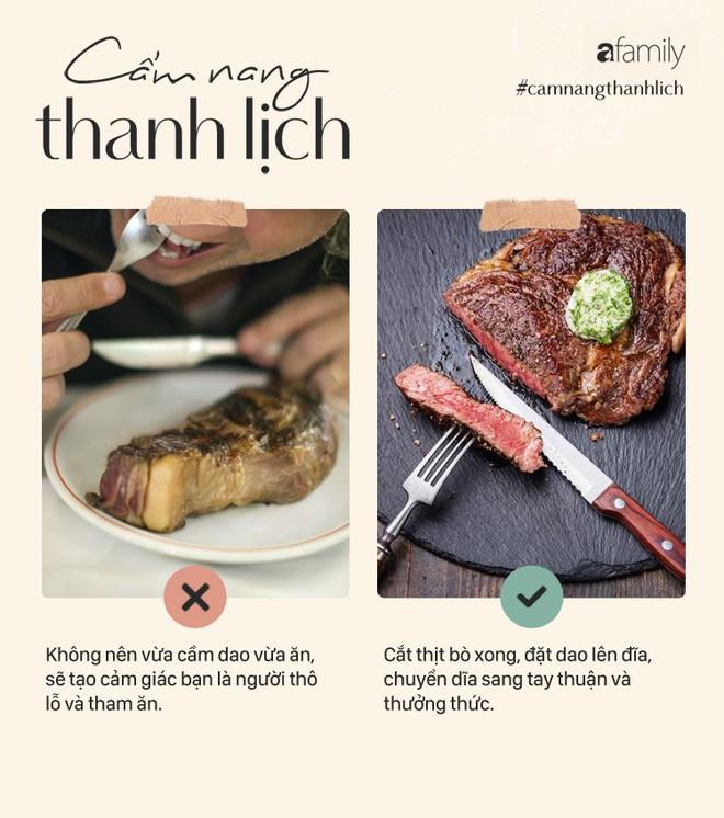 """Bò bít tết - Món ăn thách thức cho sự """"chanh xả"""" và rất dễ bị bảo là kém duyên khi phạm phải những lỗi khó ngờ này - Ảnh 8."""