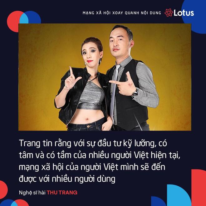 Thu Trang: Với sự đầu tư có tâm và có tầm, tôi tin MXH Lotus sẽ đến được với nhiều người dùng - Ảnh 1.