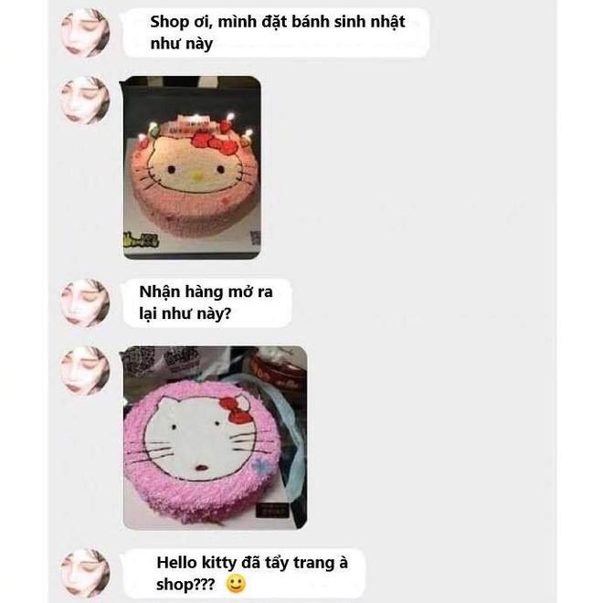 Đặt hình Hello Kitty, cô gái lại nhận về chiếc bánh mặt mèo bị tẩy trang, xấu tới mức không muốn thổi nến - Ảnh 5.