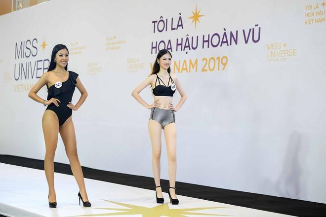 Dàn thí sinh vòng sơ khảo phía Bắc cuộc thi Hoa hậu Hoàn vũ Việt Nam 2019 diện bikini trình diễn vô cùng tự tin - Ảnh 11.