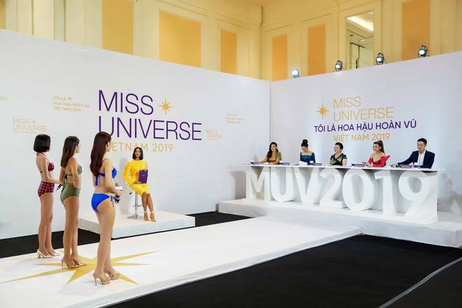Dàn thí sinh vòng sơ khảo phía Bắc cuộc thi Hoa hậu Hoàn vũ Việt Nam 2019 diện bikini trình diễn vô cùng tự tin - Ảnh 4.