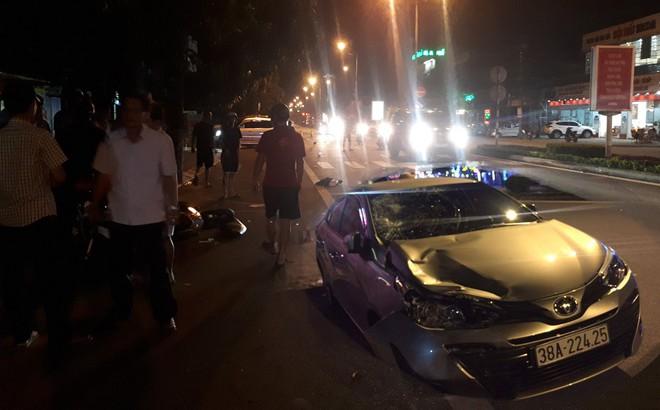 Chủ nhiệm UBKT Đảng ủy khối cơ quan và doanh nghiệp Hà Tĩnh lái ô tô tông 2 thanh niên nguy kịch