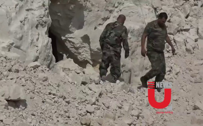 Chiến sự Syria: Bí mật khủng khiếp trong kho vũ khí khổng lồ khủng bố giấu dưới lòng đất ở Khan Sheikhoun