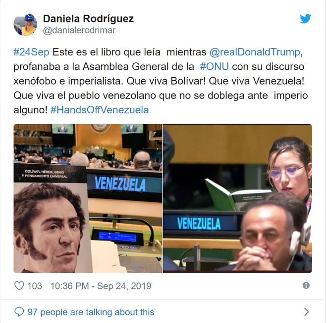 TT Trump nói lời không hay về TT Maduro tại LHQ, đại biểu Venezuela đáp trả cực gắt - Ảnh 2.