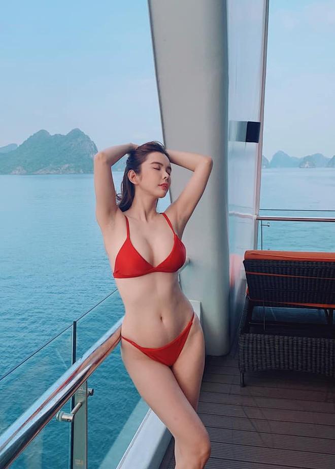 Cận cảnh thân hình bốc lửa của Hoa hậu Du lịch Thế giới Huỳnh Vy - Ảnh 4.