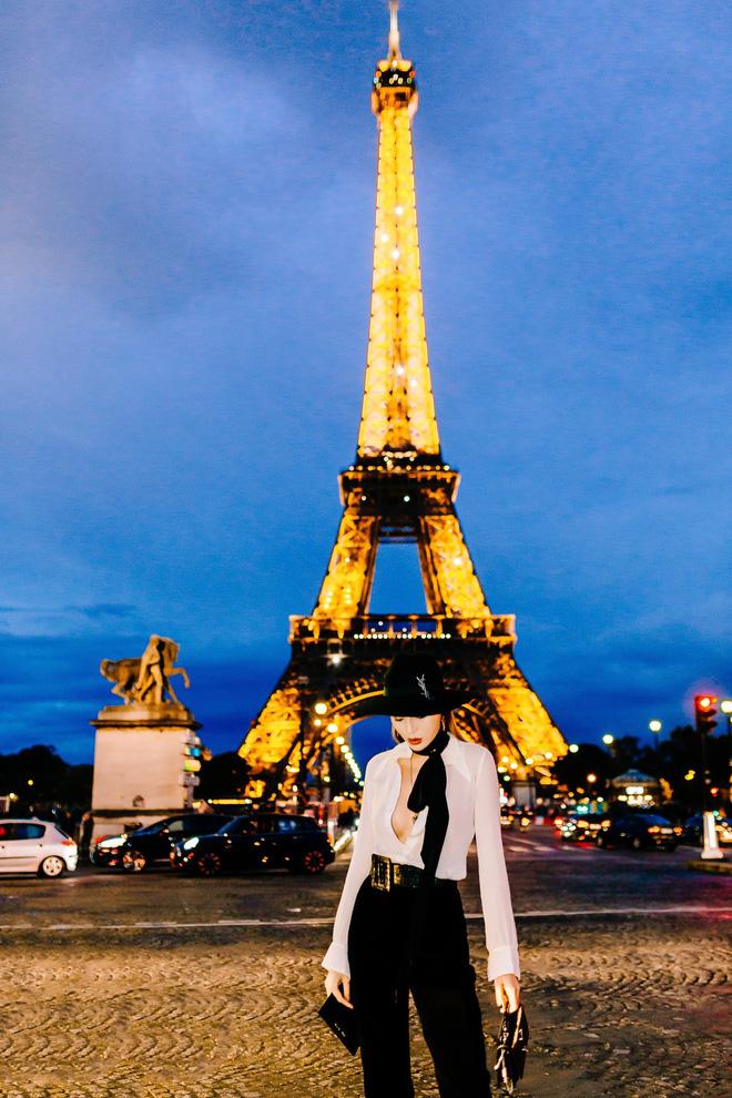Hoa hậu Kỳ Duyên cực gợi cảm khi xuất hiện tại Pháp - Ảnh 3.