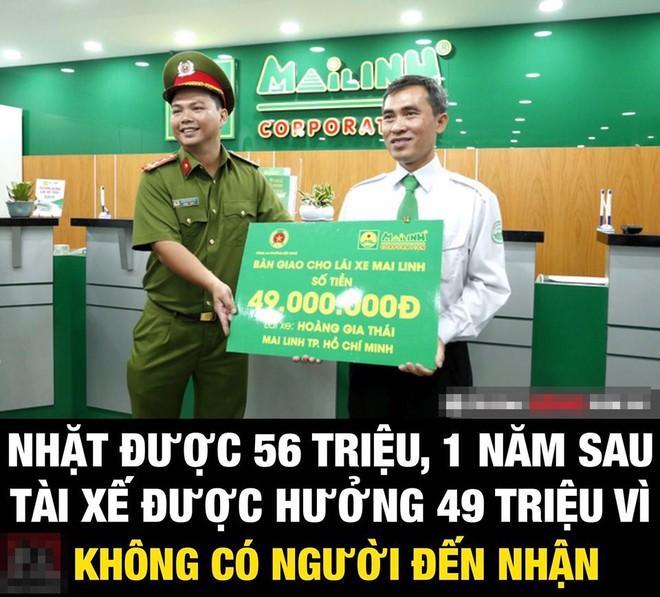 Giao nộp cho công an 56 triệu đồng tiền khách bỏ quên, một năm sau tài xế taxi nhận thông báo bất ngờ - Ảnh 1.