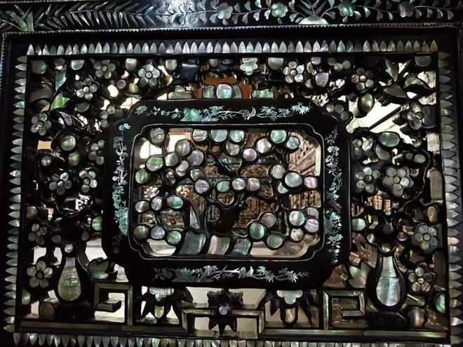 Độc đáo chiếc giường cổ có giá bạc tỷ ở Đồng Tháp - Ảnh 4.
