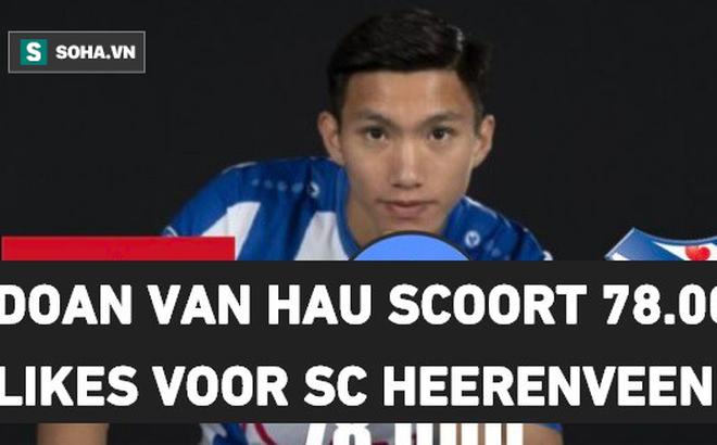 """Báo Hà Lan hé lộ con số """"khủng"""", đoán SC Heerenveen sẽ phải """"dụi mắt lia lịa"""" vì Văn Hậu"""